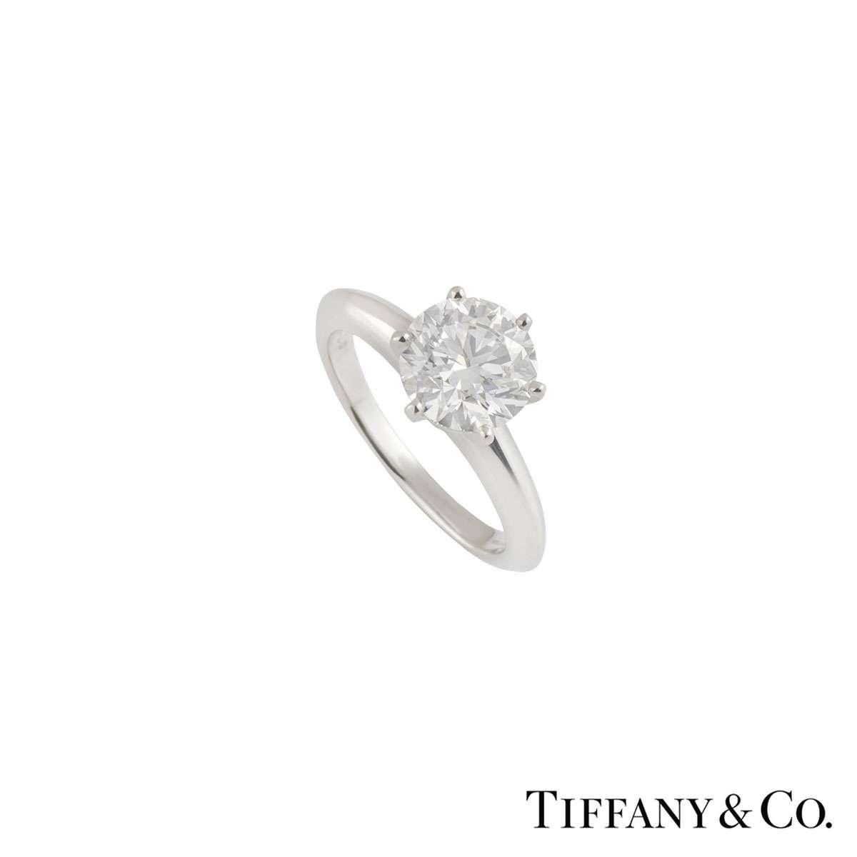 Tiffany & Co. Platinum Diamond Setting Band Ring 1.79ct F/VS1